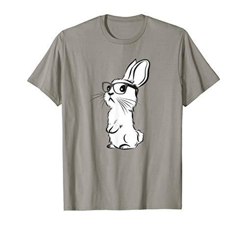 Lustiger Hippie Hase Shirt | Hase mit Brille | Hipster Hase T-Shirt