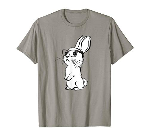 Lustiger Hippie Hase Shirt | Hase mit Brille | Hipster Hase T-Shirt