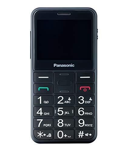 Panasonic KX-TU150 Telefono Cellulare ad Utilizzo Facilitato, Pulsanti Grandi, Ampio Schermo a Colori da 2.4 , Pulsante SOS, Compatibilità con Apparecchi Acustici, Nero