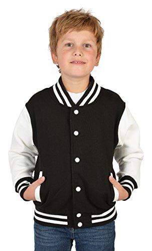 SH-Topshop - Stefan Hohenwarter Coole College Jacke für Jungs mit Rückenmotiv - Skull - Totenkopf mit Zylinder - Sweat Jacke - Farbe: schwarz