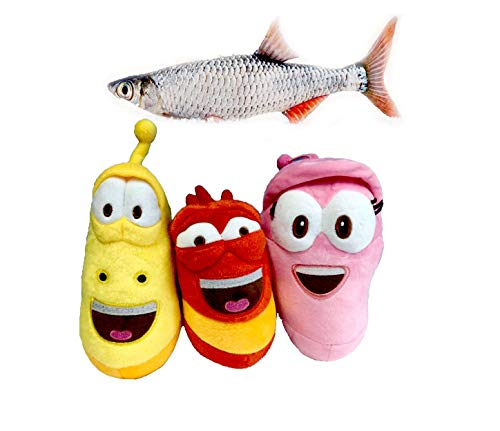 4pcs Plush Toys Insect Pink Yellow and red Doll Crucian Fish Soft Plush Toy Xmas Gifts Cute