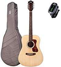 Guid D-240E LTD Flame Mahogany Dreadnought Archback Acoustic-Electric Guitar with Deluxe Gig Bag
