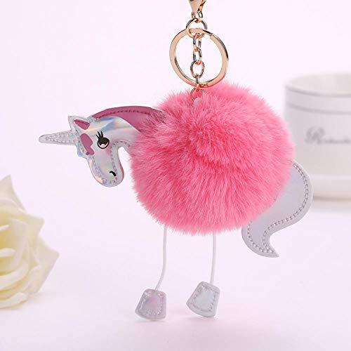 JJrainning Schlüsselanhänger Schlüsselbund künstliche pom-pom kaninchenfell Ball Mantel schlüsselbund Handtasche autoschlüssel Ring flauschig