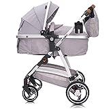 Lalalux Babyboomer leichter Kombikinderwagen Komplettset, Multifunktions-Kinderwagen, klappbar, sportlich, universell, doppelte Federung, inkl. Tasche, Regenschutz u.v.m. Für Kinder bis 36 Monate