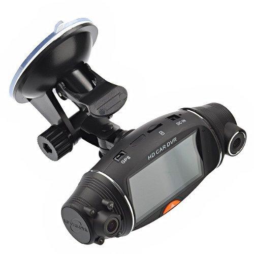 FOORDAY Tachograph - Cámara de salpicadero para Coche (2,7 Pulgadas, Pantalla LCD de Alta definición, TFT 270°, Lente de cámara Dual HD DVR, Gran Angular)
