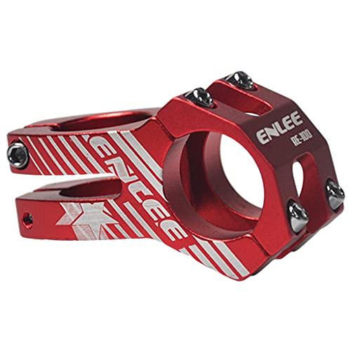 F Fityle Vástago de Bicicleta de montaña sólido 31,8x45mm aleación de Aluminio MTB 28,6mm vástago de Manillar Corto Abrazadera Piezas de Repuesto - Rojo