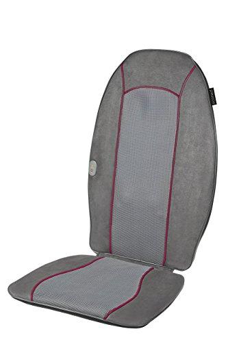 Ecomed MC-90E Shiatsu-Massageauflage, Massagesitzauflage mit 4 rotierenden Massageköpfen, Abschaltautomatik, Rotlichtfunktion, Wärmefunktion, Massage für den gesamten Rücken