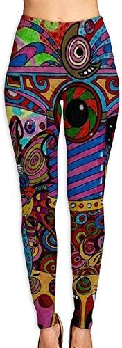 QIAOJIE Yoga-Hose Women High Waist Yoga Pants Tummy Control Workout Running Pants