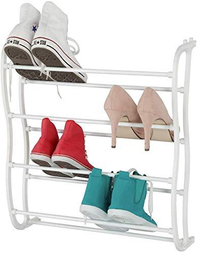 A-Generic Tallera de la Zapata de la Puerta - Montaje de Pared o Puerta, LXHXD 55x66x21cm, Rack de Zapatos Blancos 12 Pares de Zapatos Organizador