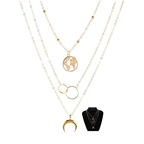 (40% OFF) 14K Gold Plated Layered Necklace  $2.98 Deal