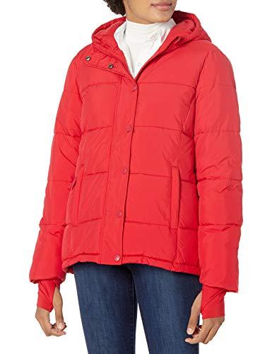Amazon Essentials Chamarra con Capucha de Peso Pesado. down-outerwear-coats, Rojo, L