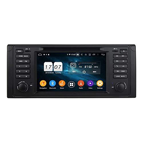 JIBO Android 10.0 Auto Audio Estéreo Cabeza Unidad para E39 1995-2002 DVD Jugador Radio HD Tocar Pantalla GPS Navegación con SWC Bluetooth WiFi 2GB + 32GB