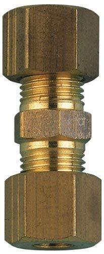 AIGNEP - 08 mm OD droit Adaptateur en laiton-Connecteurs à Compression droits en laiton (système métrique)
