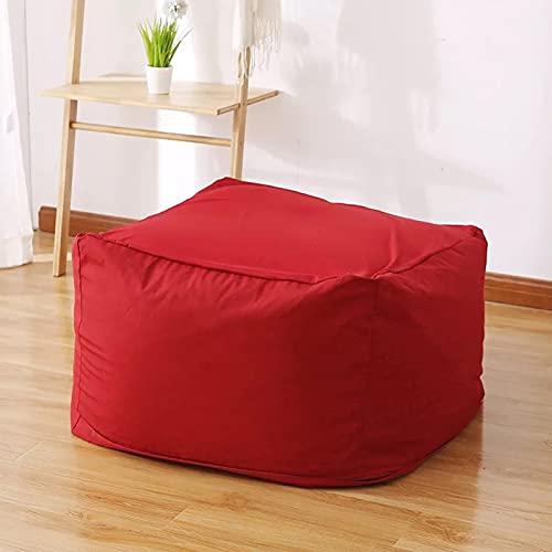 AGVER Puff Funda De Bean Bag Cubierta De Sillón Sofá Perezoso Pera Moldeable Puf (Sin Relleno),Rojo
