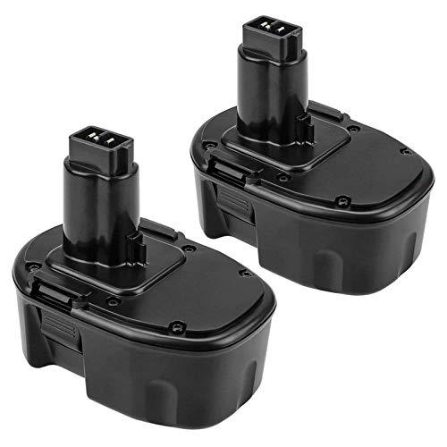 Upgraded 18V 3600mAh Ni-Mh Extended Capacity Replace Battery for Dewalt 18 Volt XRP DC9096 DC9098 DC9099 DE9098 DE9503 DW9095 DW9096 DW9098 Cordless Power Tools 2 Packs