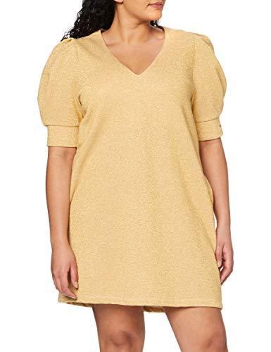 Replay Damen W9700 Lässiges Kleid, 010 Gold Lurex, M