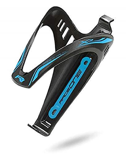 Raceone, Porta borracce per bicicletta Unisex adulto, Nero/Azzurro, Unica