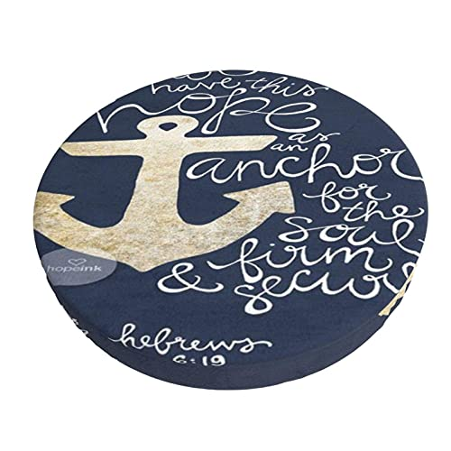 Fundas Redondas para Taburetes De Bar Versículo De La Biblia Tenemos Esta Esperanza como Fundas De Cojines De Barra De Anclaje, Cojín De Asiento De Silla Redonda para El Hogar / Hotel / Fiesta