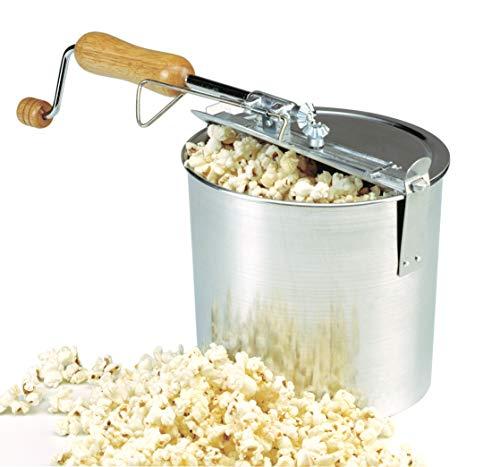 Norpro Old Time Popcorn Popper, large, Silver