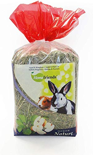 Cominter - Heno Natural para roedores Home Friends con Manzana y llantén 500 gr
