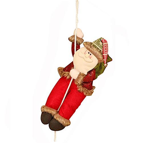 Santa Climbing with Rope Hanging Pendent Ornament House Decoration
