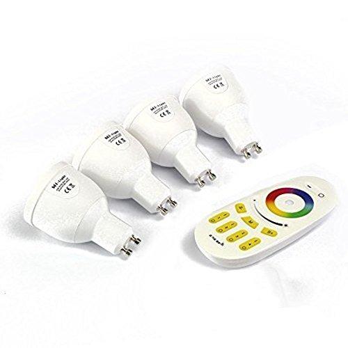 4 x 2.4G RF Mi-Light RGBW wärmen weiße LED-Lampen-Birne GU10 4W 220V w Fernbedienung von Mi-Light