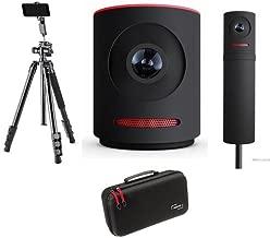 Mevo Live Event Camera by Livestream, Black - Bundle with Mevo Boost Livestream, Mevo Case for Live Event Camera - Flip-Zip Multi-Functional Photo Tripod