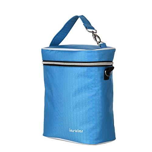 Multifunktions-Wasserdichten Mama-Beutel Schulter-Flaschen-Beutel Milch Aufbewahrungstasche Auto-Gebrauch-Tasche (Color : Bvg Blue, Size : 18.5x10.5x28.5cm)