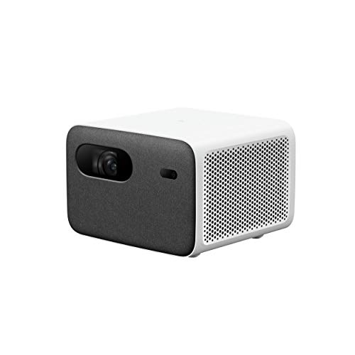 Xiaomi Mi Smart Compact Projector 2 Pro DE Version Beamer mit Google Android TV 9.0 & Google Assistent (Full HD, 60-120 Zoll, 1300 ANSI-Lumen, Autofokus, Keystone Korrektur, Stereo Lautsprecher)