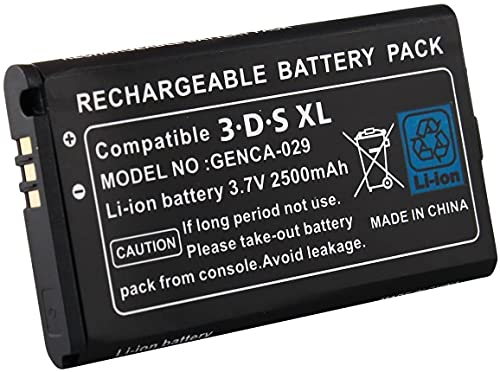 Link-e : batería recargable de repuesto, 3.7V 2500mAh, destornillador incluido, compatible con la consola Nintendo 3DS XL