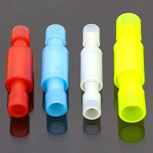 Batterieklemmen 50pcs Durchlässiger Gewehrkugel formte Weiblich Männlich Isolier-Joint-Draht-Verbindungs Elektrischer Crimpanschluss (Color : White)