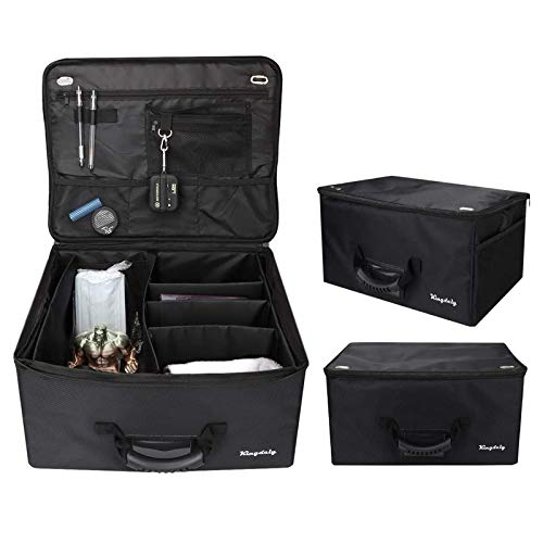 MEARTEVE Golf Trunk Organizer Storage, Golf Organizer for Car Foldable Waterproof Car Golf Locker for Travel Store Golf Accessories, Adjustable Compartments