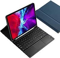 ipad pro 12.9キーボードカバー 2020 バックライト機能 タッチパッド付き 脱着式Bluetoothキーボードと保護ケース2020年型アイパッドプロ12.9 キーボード付き カバー (ブルー)