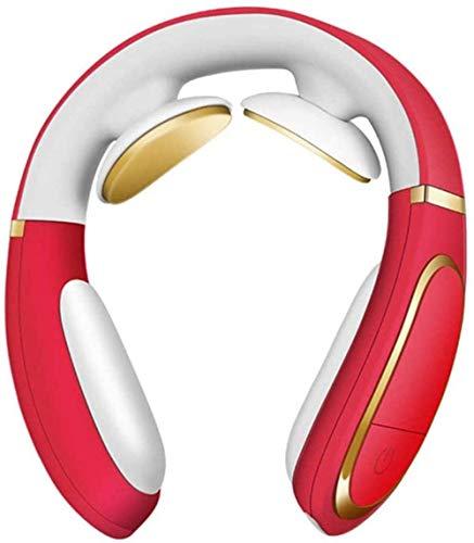 Elektrische Pulshals-Massagegerät Warm-Kompresse Cervical-Reine Physiotherapeutische Akupunktur Magnetische Relief Schmerzwerkzeug Elektrische Massager-rot