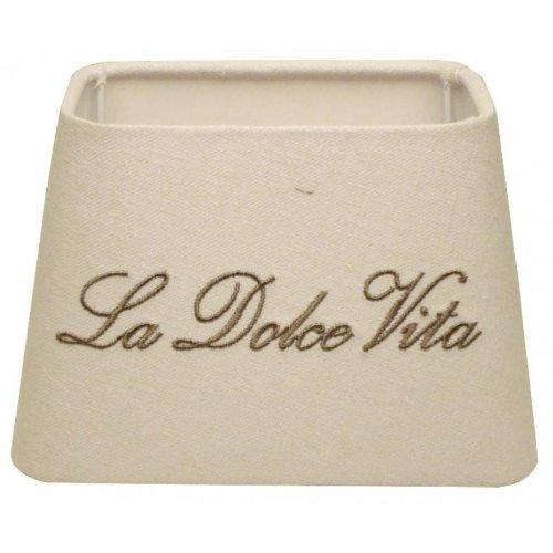 Abat-jour carré LA DOLCE VITA blanc/gris E27 20-16-13