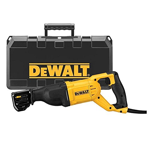 DEWALT DWE305PK-QS Scie sabre filaire - 1100W - Spéciale applications difficiles - Course à vide 0-2800 cps/min - Course de la lame 29 mm - Fixation 4 positions - Mallette de transport robuste, Jaune