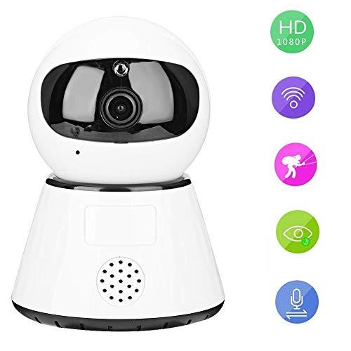 1080P HD Mini WiFi-camera Draaibare babyfoon Nachtzicht Home Security Camera met tweewegintercom, PIR-bewegingsdetectie, mobiel app-alarm (EU)