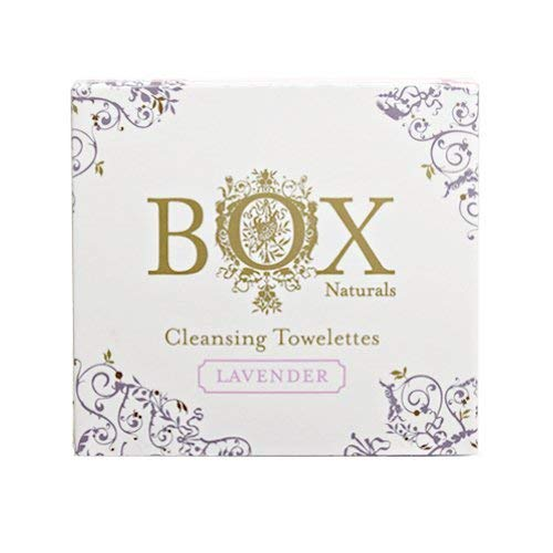 BOX Naturals Lavender Towelettes 12 Pack for Face and Body - Wet Wipes