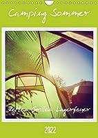 Camping Sommer - Zelten Grillen Lagerfeuer (Wandkalender 2022 DIN A4 hoch): Glueckliche Abenteuer. (Planer, 14 Seiten )
