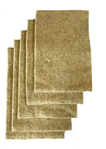 Anzuchtmatte aus 100% Hanf, 40 x 25 cm, ca. 1 cm dick, 5er Pack (EUR 2,38/Stück), Matte geeignet zur Anzucht von z.B. Kresse und Keimsprossen (Microgreens), 100% biologisch abbaubar, Hanfmatte