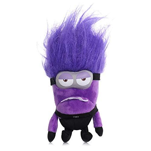 aolongwl Peluche 20cm Minions Peluches Despicable Me Purple Minions Peluches De Peluche con Pelo Largo Diversión Peluche Anime Juguetes para Niños Niños