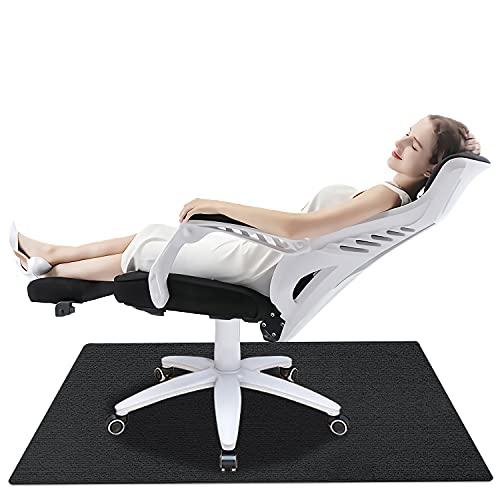 Bodenschutzmatte für Hartböden, Bürostuhlunterlage Bodenmatte Stuhlunterlage, Schreibtisch Matte Mehrzweck für Office Home Protector (Dunkelgrau, 90 x 120 cm)