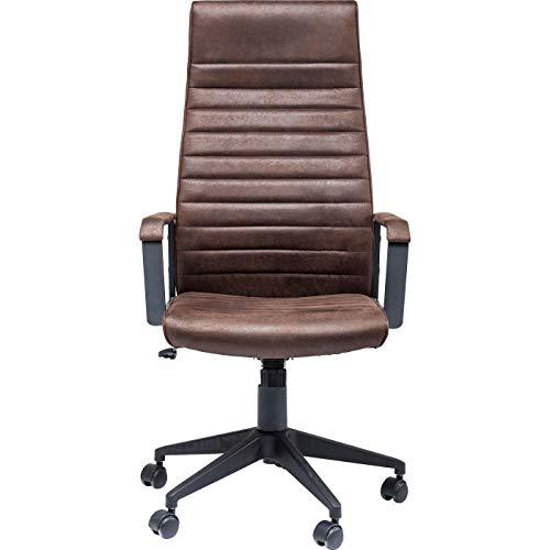 Kare Design Bürodrehstuhl Labora High, Schreibtischstuhl mit Rollen, Office Chair, Drehsessel, Braun (H/B/T) 127,5x58x56cm