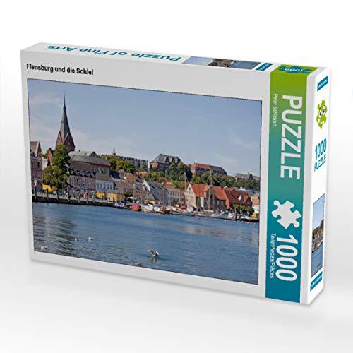 CALVENDO Puzzle Flensburg und die Schlei 1000 Teile Lege-Größe 64 x 48 cm Foto-Puzzle Bild von Peter Schickert