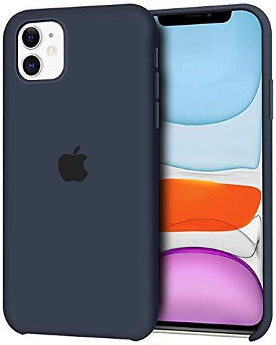 DICAS MOBILE Funda de Silicona para iPhone 11, Silicone Case, máxima Calidad, Textura Suave, Forro Interno Microfibra (Azul Noche)