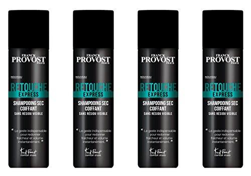 FRANCK PROVOST Studio Retouche Express Shampooing Sec Coiffant sans Résidu Visible 150 ml - Lot de 4