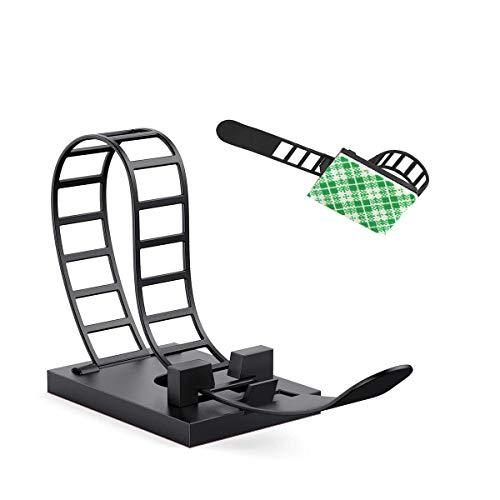Kabelbinder,50 PCS Verstellbare Kabelhalter,3M Selbstklebende Kabelklemme, Kabelwandklammer,Kabelmanagement für Heim und Büro,(Schwarz)