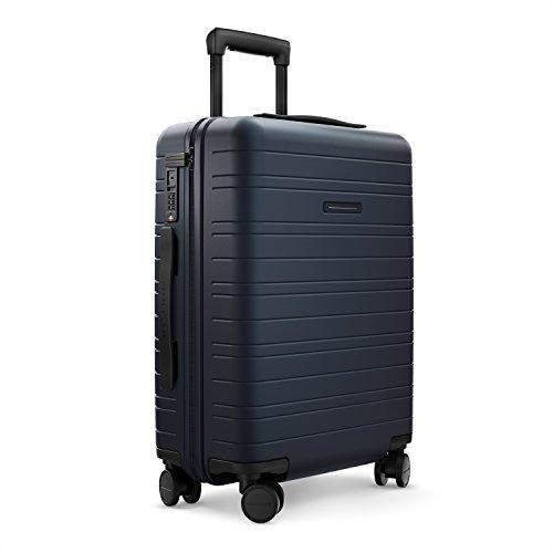HORIZN STUDIOS H5 Handgepäck (35 L) mit integrierter, herausnehmbarer Powerbank und eingebautem Raumtrenner zur Komprimierung. Für Reisen 2-3 Tage. Dunkelblau (Night Blue)
