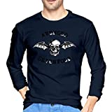 Patrick R Garrett Logotipo de Avenged-Sevenfold Skull Camisetas de Manga Larga Estampadas para Hombre Camiseta con Estilo Informal para Ropa de Calle