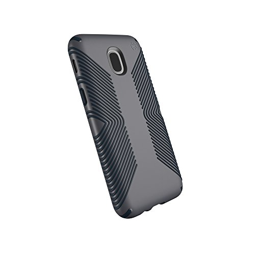 Speck Products Compatible Phone Case Samsung Galaxy J3 (fits Verizon J3 V 3rd Gen, AT&T Express Prime 3; Cricket Amp Prime 3, Sol 3; T-Mobile J3 Star), Presidio Grip Case, Graphite Grey/Charcoal Grey